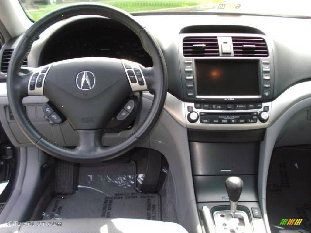 2008 Acura TSX Sedan Quartz Gray Dashboard Photo #11673795   GTCarLot.com