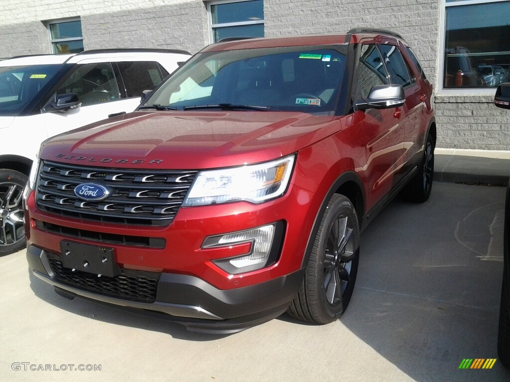 Ruby Red Ford Explorer Xlt 4wd