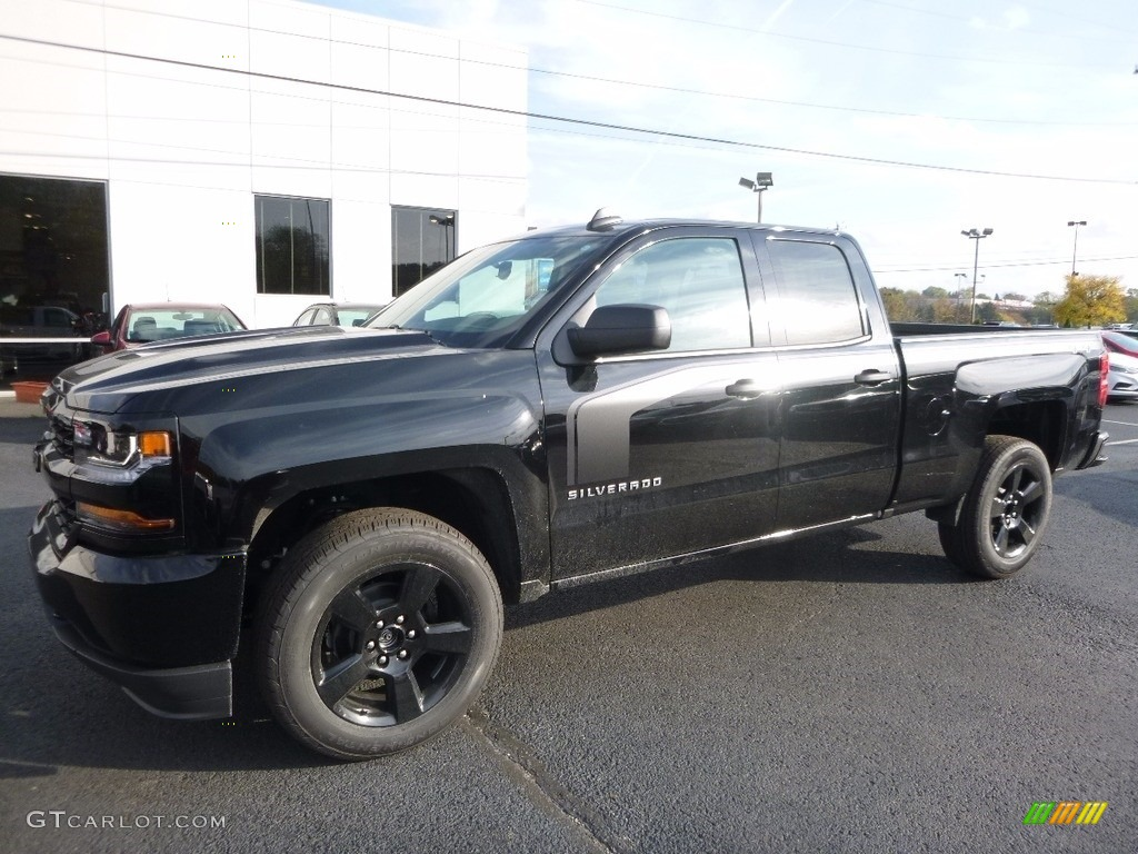 2017 black chevrolet silverado 1500 custom double cab 4x4 116757460 car color. Black Bedroom Furniture Sets. Home Design Ideas