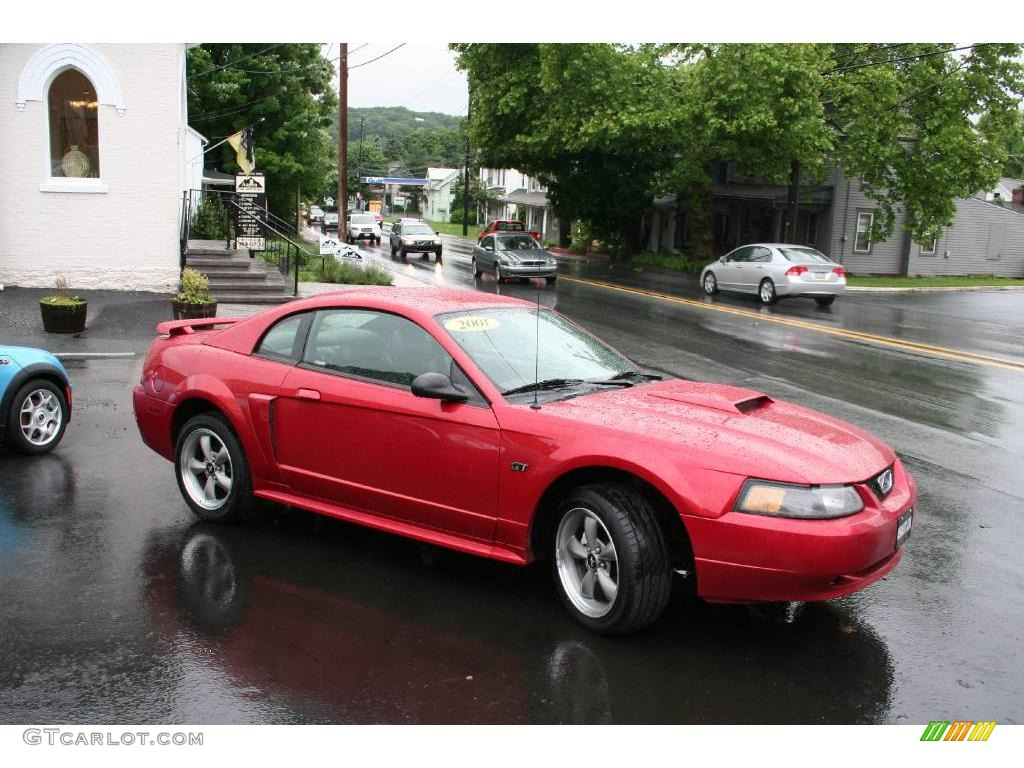 2001 laser red metallic ford mustang gt coupe 11669604. Black Bedroom Furniture Sets. Home Design Ideas