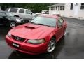 2001 Laser Red Metallic Ford Mustang GT Coupe  photo #6