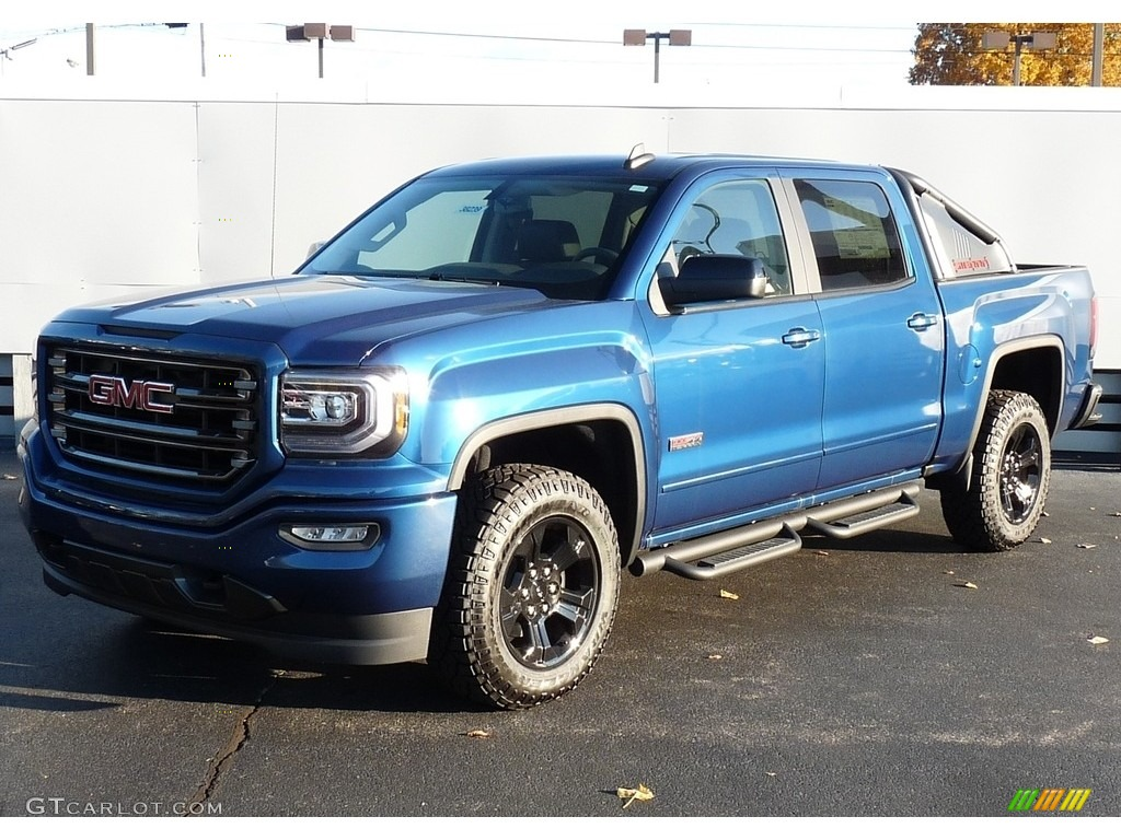 2017 stone blue metallic gmc sierra 1500 slt crew cab 4wd all terrain package 116806230. Black Bedroom Furniture Sets. Home Design Ideas
