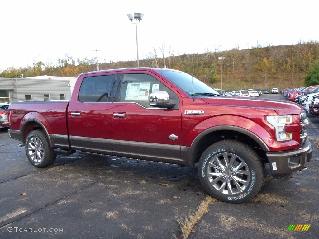 2017 ruby red ford f150 king ranch supercrew 4x4 116806033 car color galleries. Black Bedroom Furniture Sets. Home Design Ideas