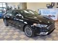 2017 Shadow Black Ford Fusion Energi Titanium  photo #1