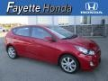 Boston Red 2013 Hyundai Accent SE 5 Door