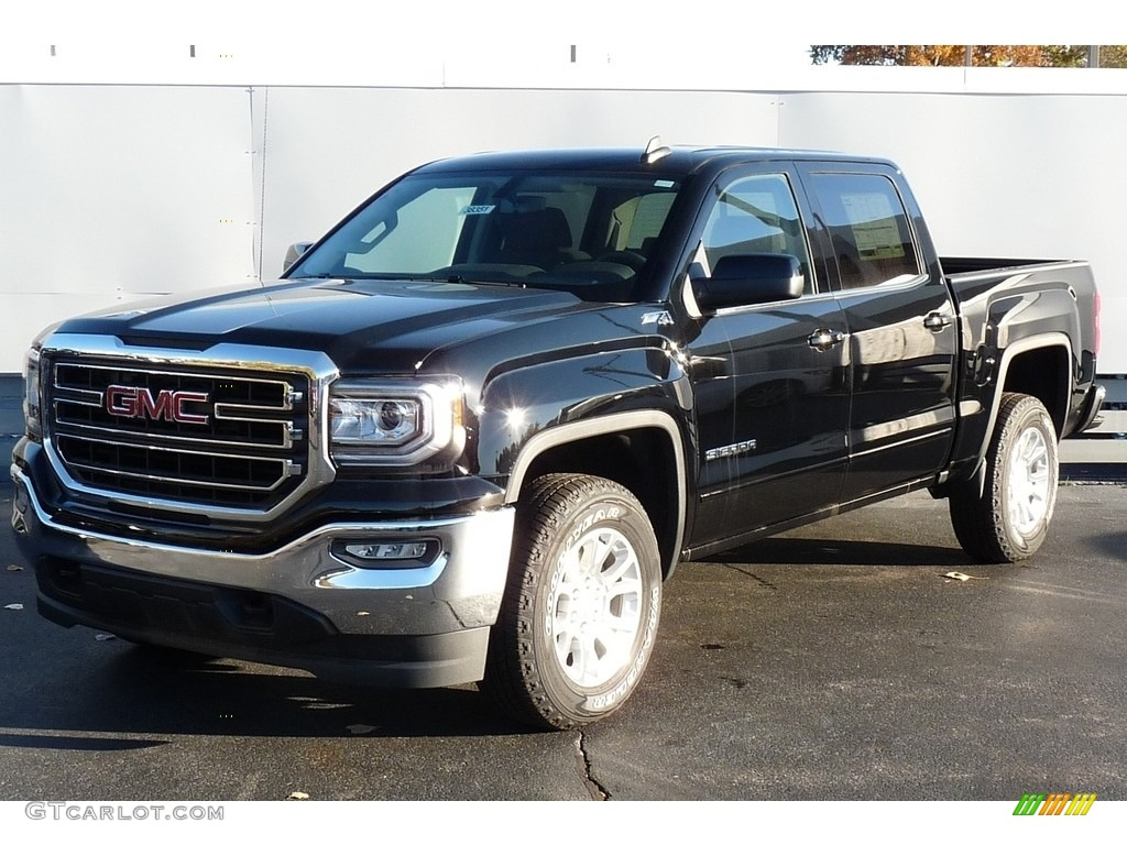 2017 onyx black gmc sierra 1500 sle crew cab 4wd 116847074 car color galleries. Black Bedroom Furniture Sets. Home Design Ideas