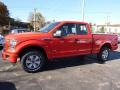 2016 Race Red Ford F150 XL SuperCab 4x4  photo #4