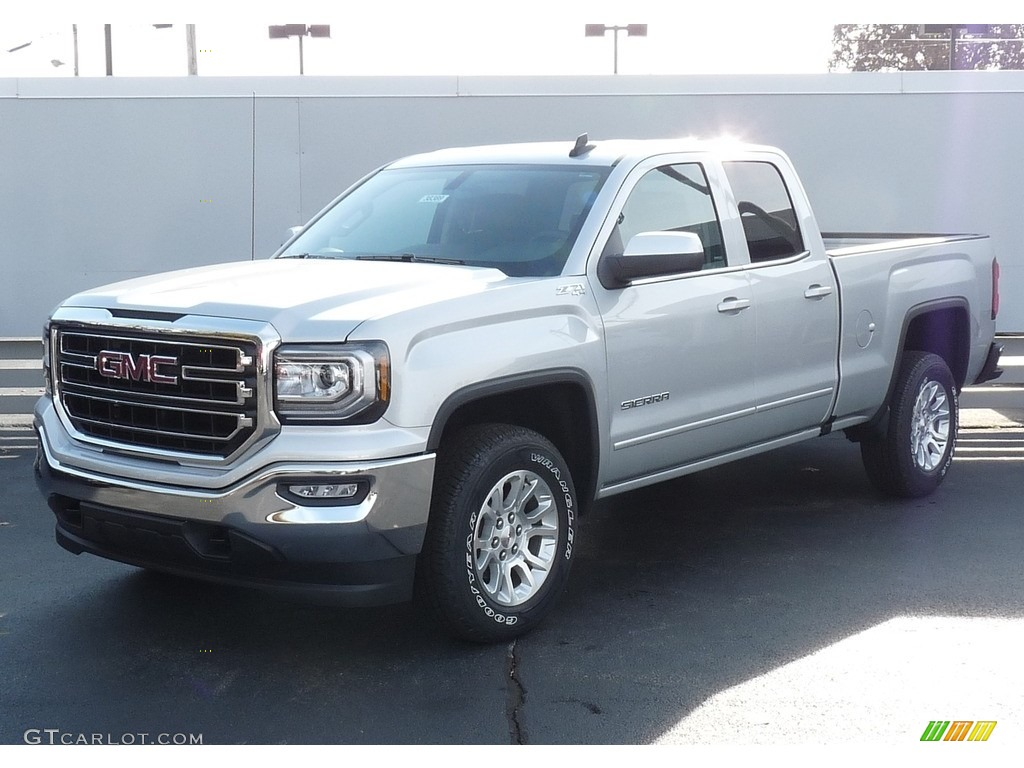 2017 quicksilver metallic gmc sierra 1500 sle double cab 4wd 116871284 car. Black Bedroom Furniture Sets. Home Design Ideas