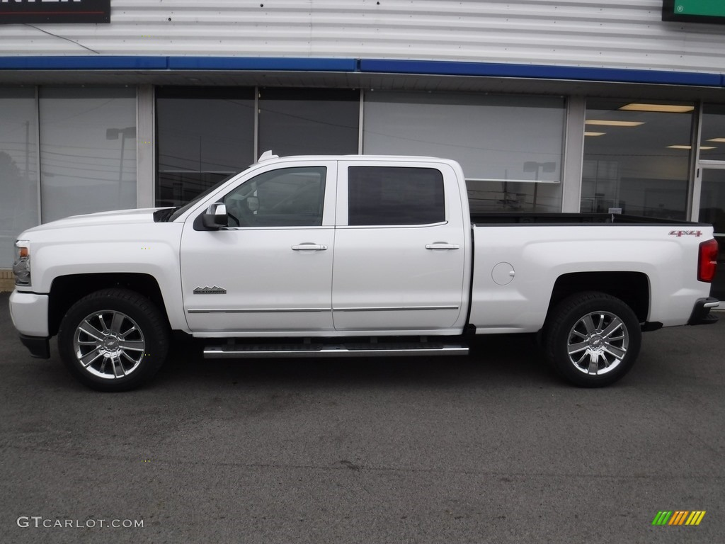 Iridescent Pearl Tricoat 2017 Chevrolet Silverado 1500 High Country Crew Cab 4x4 Exterior Photo #116892926