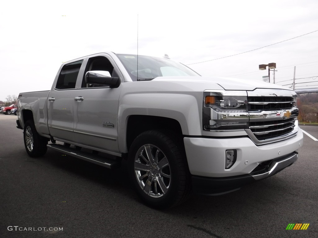 Iridescent Pearl Tricoat 2017 Chevrolet Silverado 1500 High Country Crew Cab 4x4 Exterior Photo #116893016