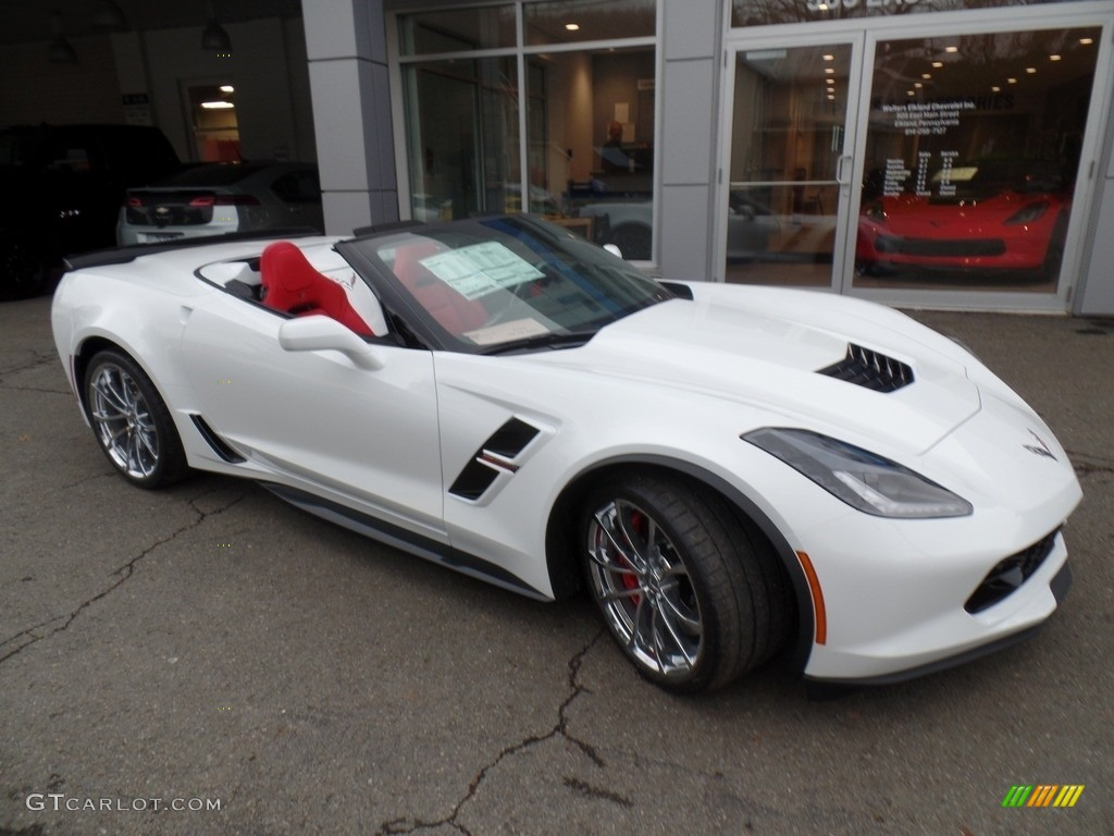 Arctic White Chevrolet Corvette Grand Sport Convertible