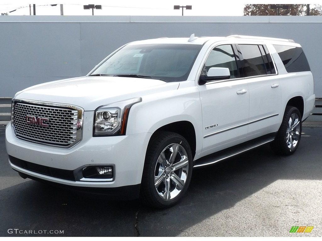 2017 white frost tricoat gmc yukon xl denali 4wd 116898897 car color galleries. Black Bedroom Furniture Sets. Home Design Ideas