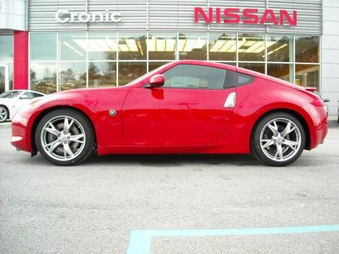 Nissan 370z Coupe. 2009 Solid Red Nissan 370Z