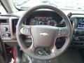 Jet Black Steering Wheel Photo for 2017 Chevrolet Silverado 1500 #116974219