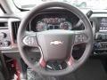 Jet Black Steering Wheel Photo for 2017 Chevrolet Silverado 1500 #116974996
