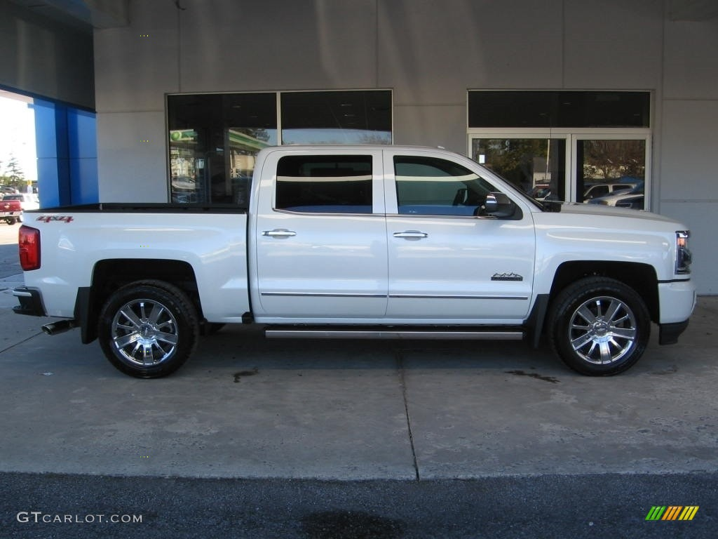 Iridescent Pearl Tricoat 2017 Chevrolet Silverado 1500 High Country Crew Cab 4x4 Exterior Photo #116979188