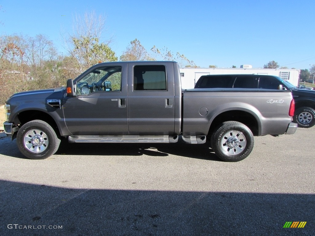 2008 F250 Super Duty XLT Crew Cab 4x4 - Dark Shadow Grey Metallic / Medium Stone photo #1
