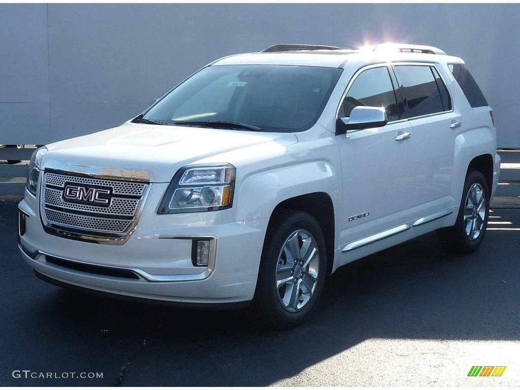 2017 Terrain Denali Awd White Frost Tricoat Jet Black Photo 1