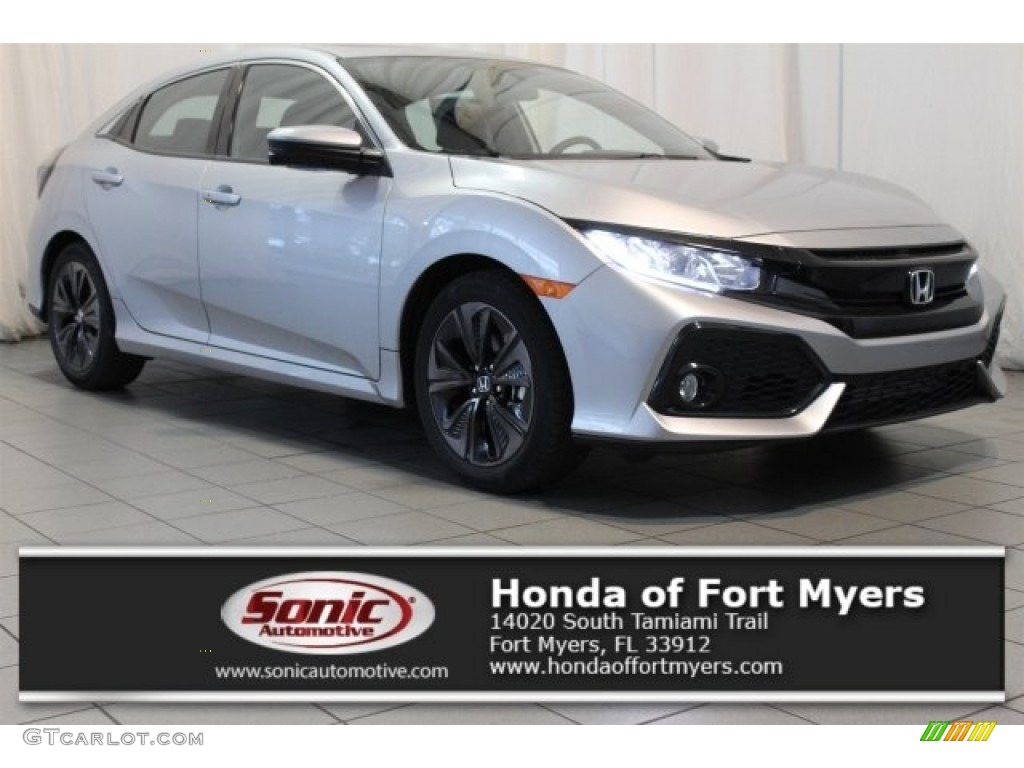 2017 Lunar Silver Metallic Honda Civic Ex Hatchback 117016333 Gtcarlot Com Car Color Galleries