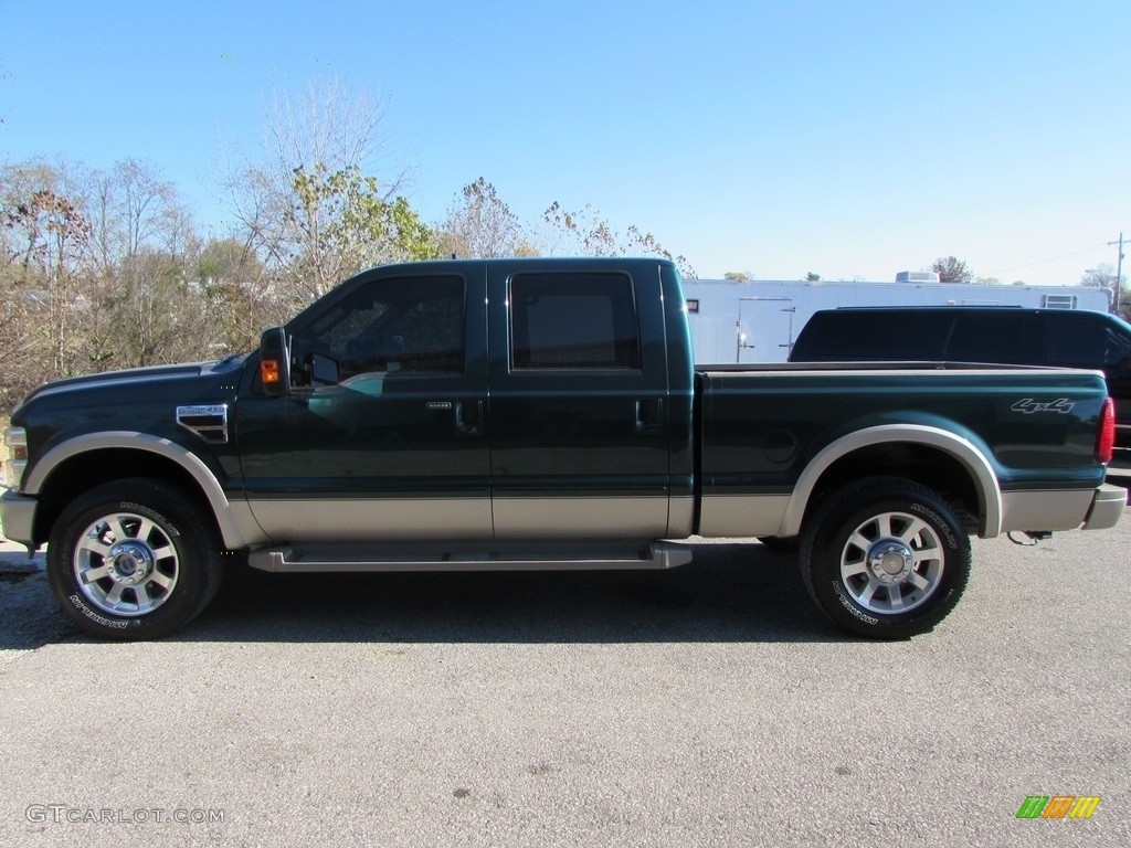2010 forest green metallic ford f250 super duty king ranch crew cab 4x4 117016601 gtcarlot. Black Bedroom Furniture Sets. Home Design Ideas