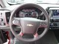 Jet Black Steering Wheel Photo for 2017 Chevrolet Silverado 1500 #117050768