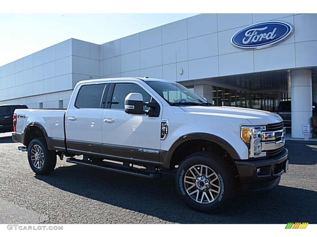 2017 white platinum ford f250 super duty king ranch crew cab 4x4 117041629 car. Black Bedroom Furniture Sets. Home Design Ideas