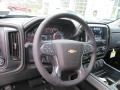 Jet Black Steering Wheel Photo for 2017 Chevrolet Silverado 1500 #117059879