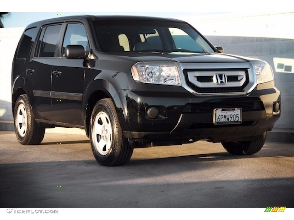 2011 crystal black pearl honda pilot lx 117091278 photo for Black honda pilot