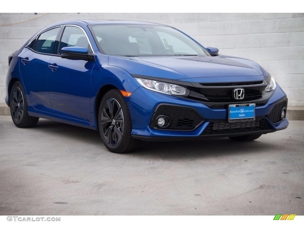 2017 aegean blue metallic honda civic ex l navi hatchback for Honda hatchback ex