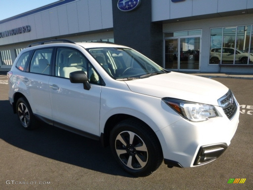 Crystal White Pearl Subaru Forester