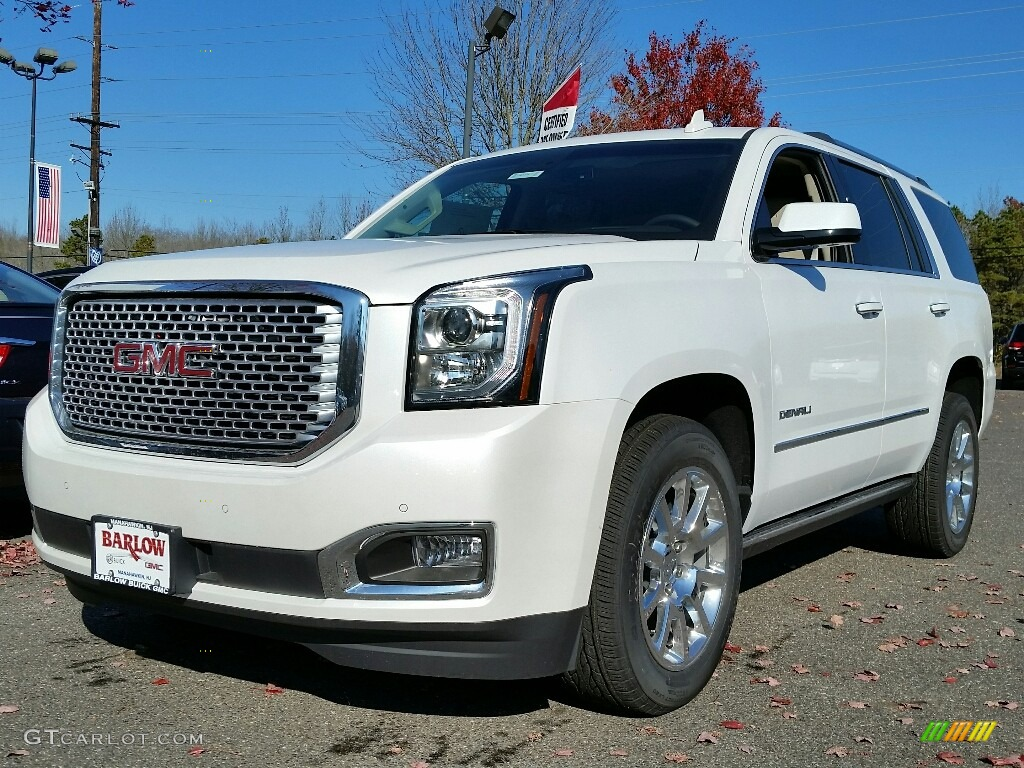 2017 white frost tricoat gmc yukon denali 4wd 117090937 car color galleries. Black Bedroom Furniture Sets. Home Design Ideas