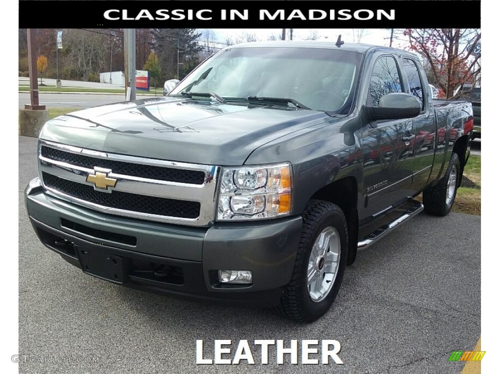 2011 Silverado 1500 LTZ Extended Cab 4x4 - Steel Green Metallic / Ebony photo #1