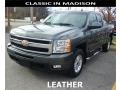 2011 Steel Green Metallic Chevrolet Silverado 1500 LTZ Extended Cab 4x4  photo #1