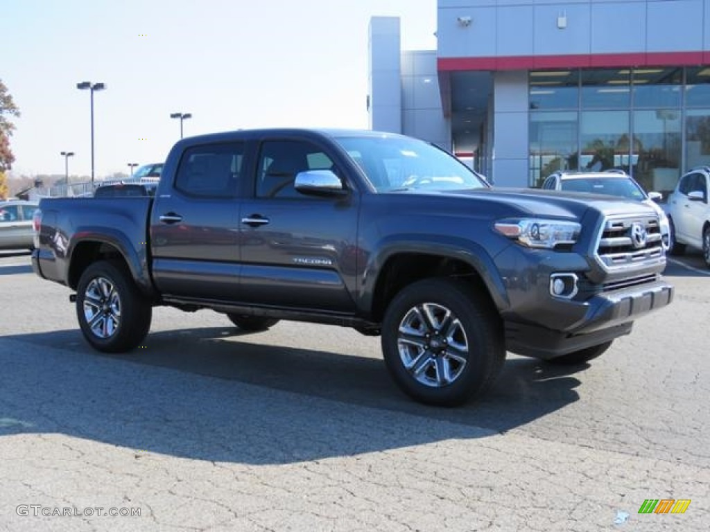 2017 magnetic gray metallic toyota tacoma limited double. Black Bedroom Furniture Sets. Home Design Ideas