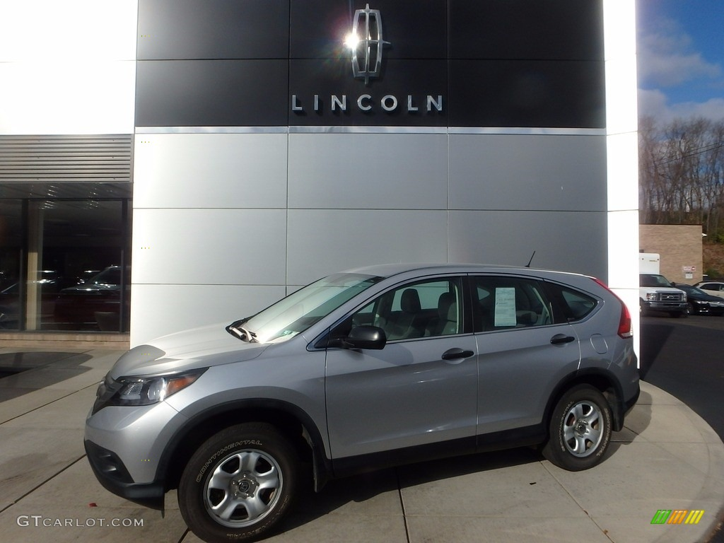 2012 CR-V LX 4WD - Alabaster Silver Metallic / Gray photo #1