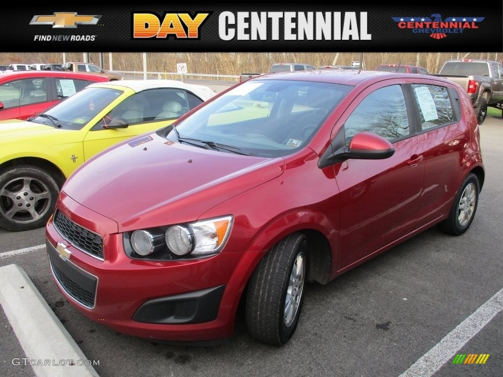 2012 Victory Red Chevrolet Sonic Ls Hatch 117178071