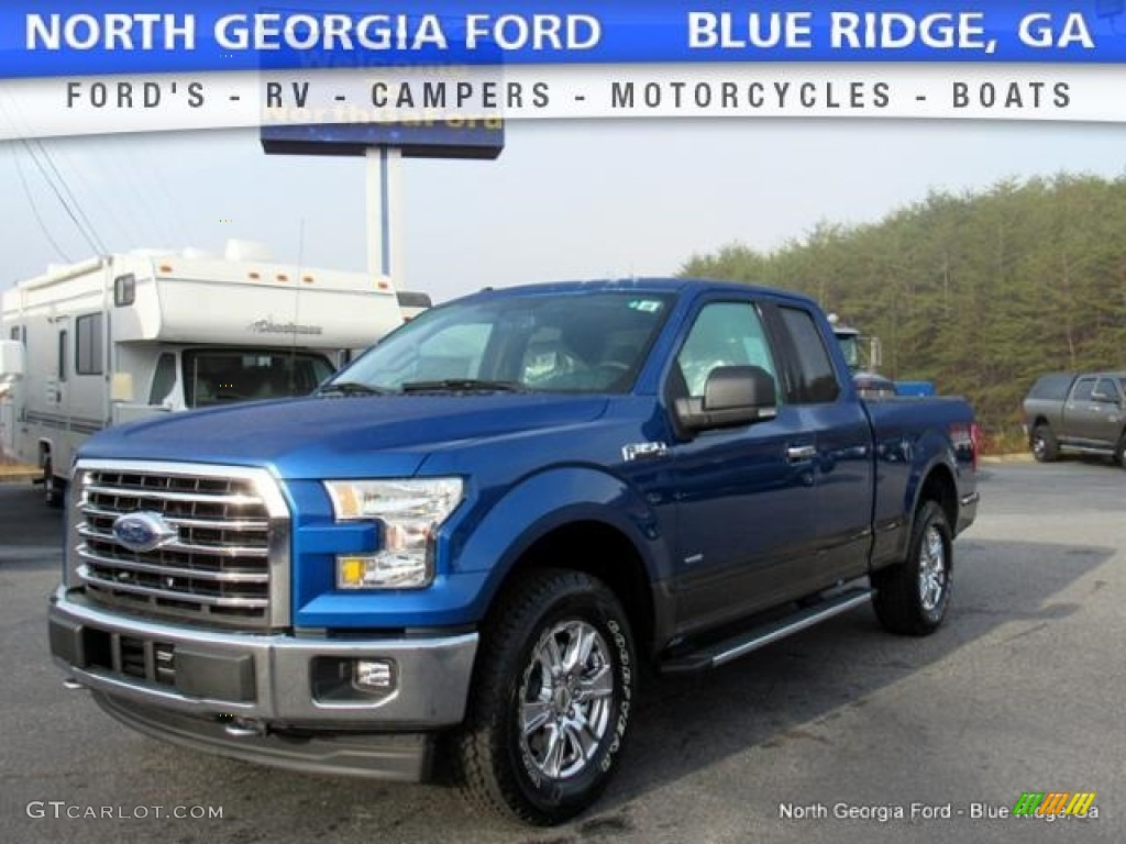 2017 lightning blue ford f150 xlt supercab 4x4 117215796 car color galleries. Black Bedroom Furniture Sets. Home Design Ideas