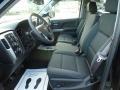 Jet Black Front Seat Photo for 2017 Chevrolet Silverado 1500 #117231769