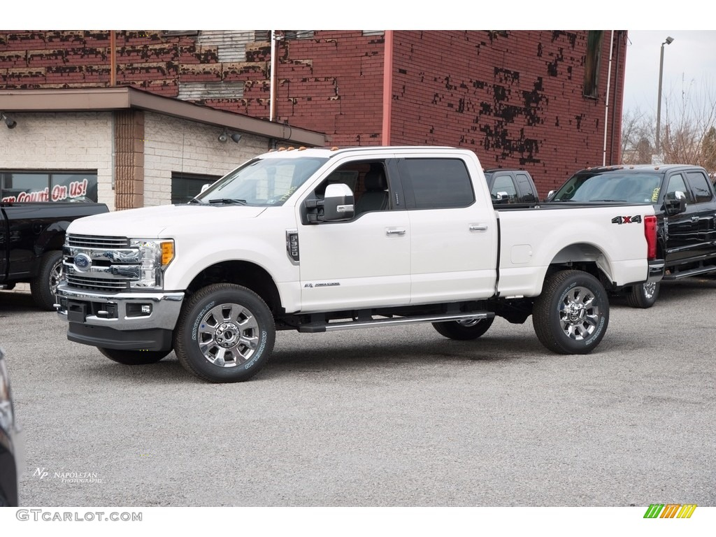 2017 white platinum ford f350 super duty lariat crew cab. Black Bedroom Furniture Sets. Home Design Ideas