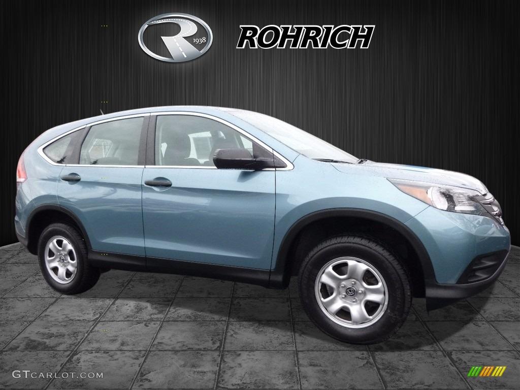 2014 CR-V LX AWD - Twilight Blue Metallic / Gray photo #1