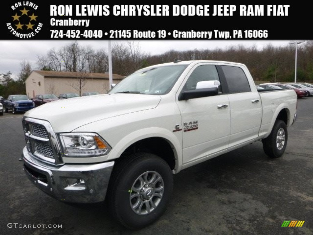 2017 pearl white ram 2500 laramie crew cab 4x4 117291137 car color galleries. Black Bedroom Furniture Sets. Home Design Ideas