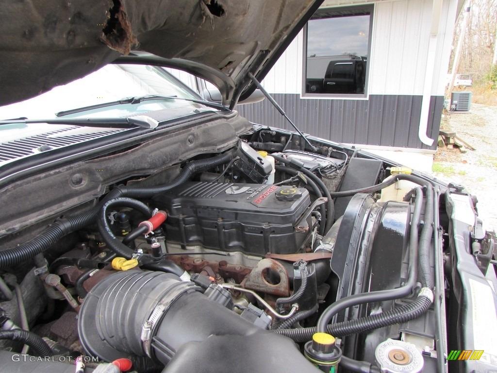 2008 Ram 3500 SLT Quad Cab 4x4 Dually - Brilliant Black Crystal Pearl / Medium Slate Gray photo #47