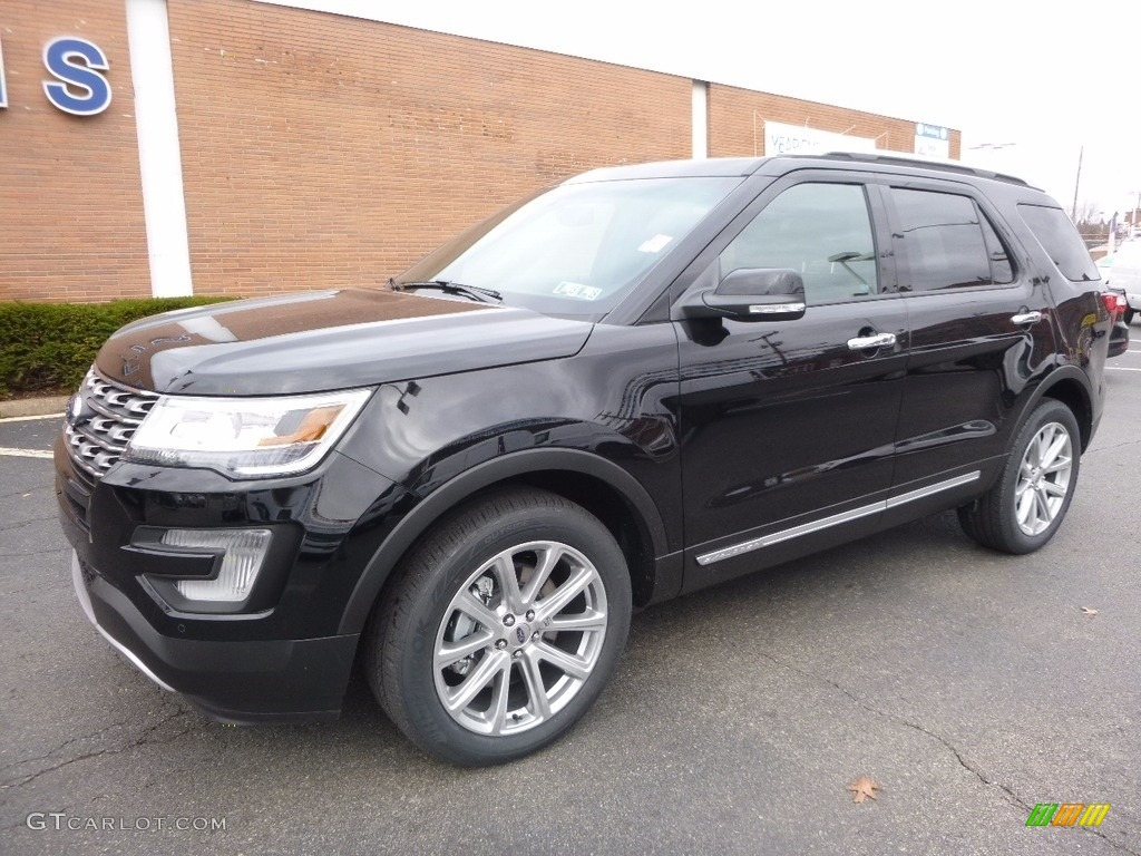 Shadow Black 2017 Ford Explorer Limited 4WD Exterior Photo #117332593