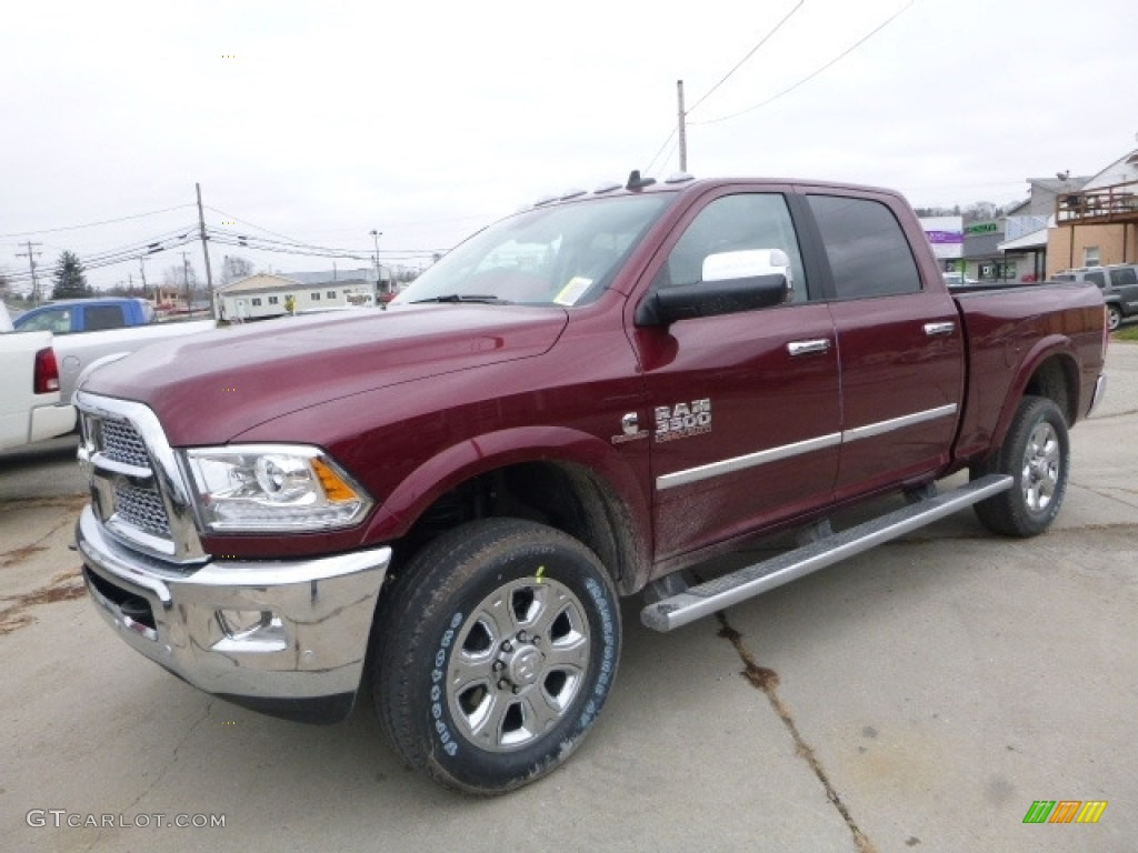 2017 delmonico red pearl ram 3500 laramie crew cab 4x4 117319307 car color. Black Bedroom Furniture Sets. Home Design Ideas