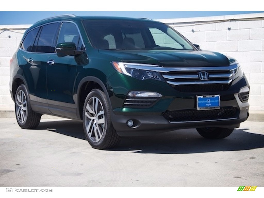 2017 Black Forest Pearl Honda Pilot Touring #117357501 ...
