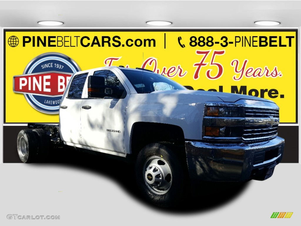2017 summit white chevrolet silverado 3500hd work truck double cab dual rear wheel 4x4 chassis. Black Bedroom Furniture Sets. Home Design Ideas