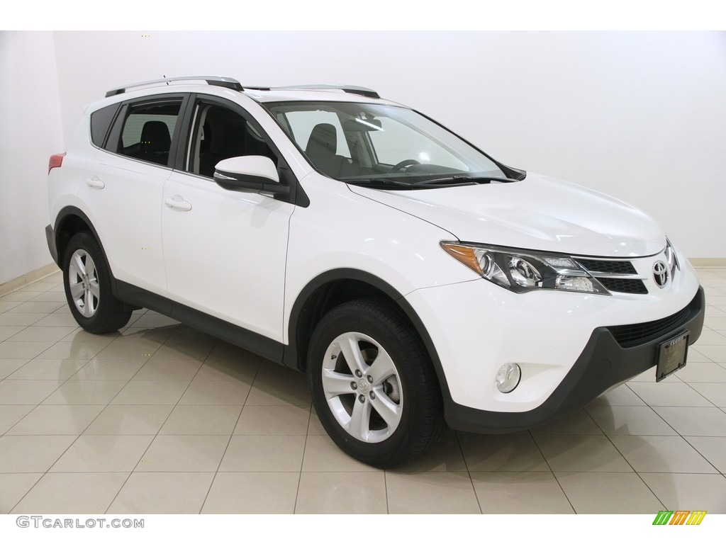 2013 super white toyota rav4 xle awd 117365981 car color galleries. Black Bedroom Furniture Sets. Home Design Ideas