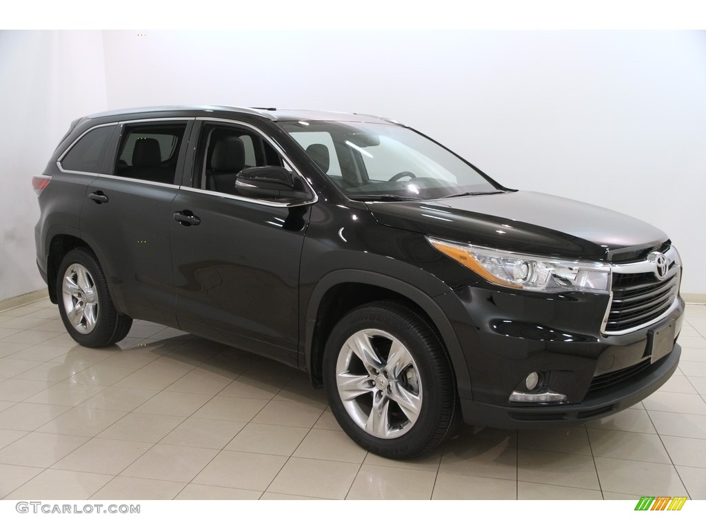 2015 Attitude Black Metallic Toyota Highlander Limited Awd