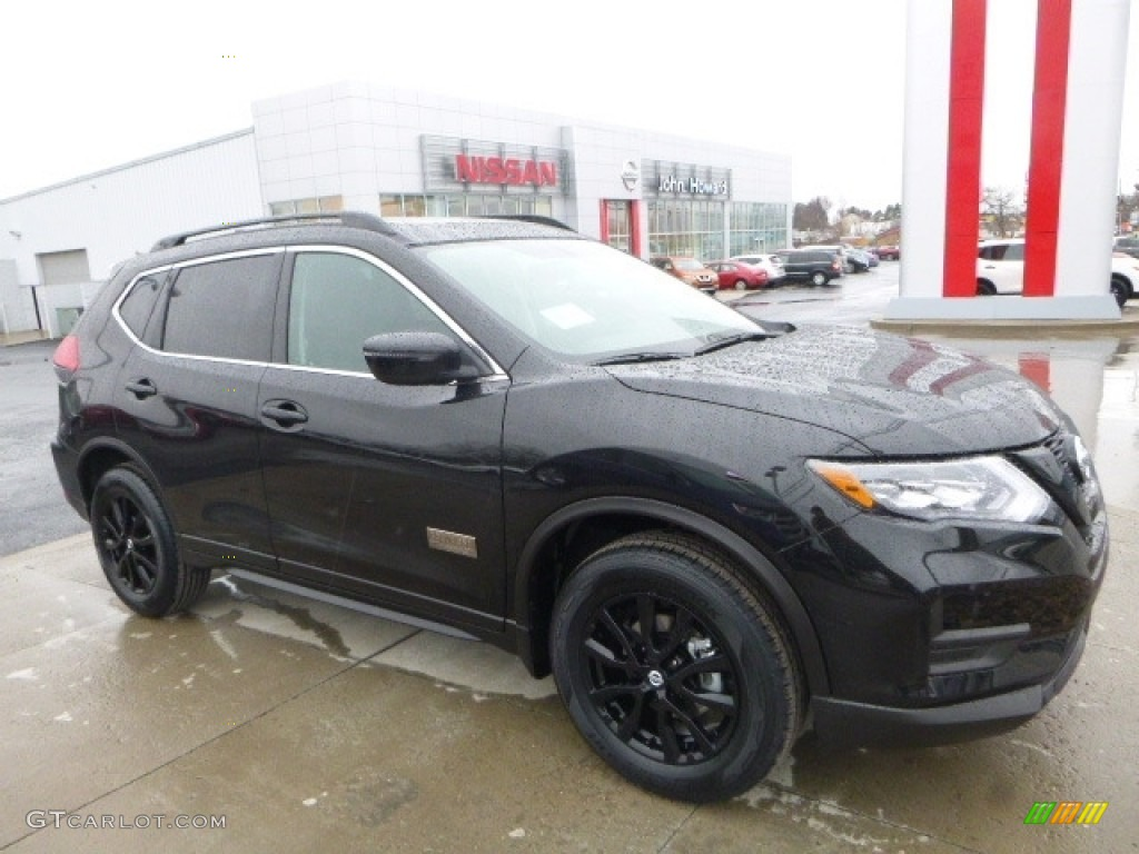 2017 Magnetic Black Nissan Rogue Sv Awd 117391577