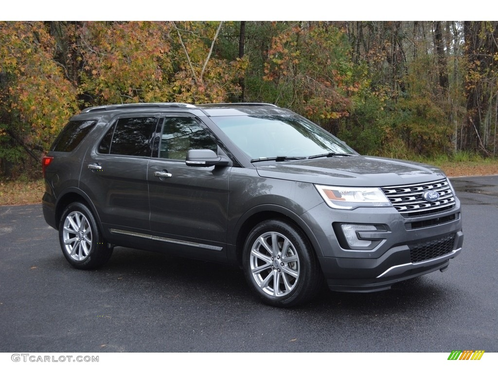2016 Magnetic Metallic Ford Explorer Limited #117391517 | GTCarLot.com - Car Color Galleries